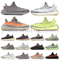 yeezy yeezys yezzy enfant boost v2 350 2020 Kanye West das mulheres dos homens sapatas Running Zebra Cinder cauda luz reflexiva ABEZ linho Mens Formadores sneakers