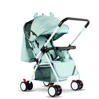 Cochecitos # Cochecito de bebé portátil Carriaje plegable Ultra liviano y conveniente Puede sentarse mentira simple niño Mini cuatro ruedas carro1