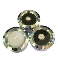 Venta al por mayor Linda Plata Acero inoxidable Gema Diamante Mostrar caja de almacenamiento Reversible DoubleSide Uso Esponja Bead / Stud Pendiente Rhinestone PG9RO