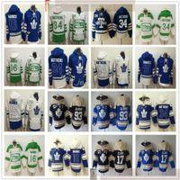 Toronto Maple Leafs Hockey Hoodie Tribersys 34 Auston Matthews 16 Mitchell Marner 17 Wendel Clark 93 Doug Gilmour Hoodies белый зеленый синий