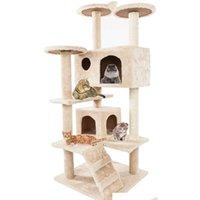 Katzenbäume und Türme Prime für große Katzen 52 Zoll Möbel Kätzchen Aktivität Turm mit Kratzer Pfosten Kitty Pet Play House E3thy
