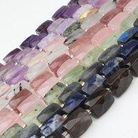 Outros irregulares Faceted Natural Rose Quartz Ametista Prehnite 11x16mm Espaçadores Soltos Beads para Jóias Fazendo DIY Pulseira Colar 1