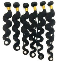 Бразильские пачки волос девственные человеческие волосы плетены прямые утечки 8-34 дюйма необработанные перуанские индийские малайзийские удлиняемые волосы