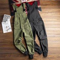 Mens Na moda Roupas Moda Coreano Bib Oneeace Jumpsuits para Homens Macacões Macacões Playsuits Masculino Cargo Harem Calças Streetwear
