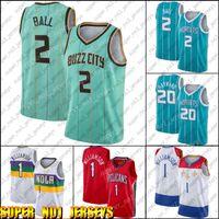 "Charlotte ""Hornets"" Jersey Lamelo Lamelo Lonzo Ball Jersey Zion 1 Basketball Williamson Jerseys Nouvelle-Orléans ""Pélicans"" Jersey"