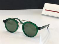 845SR Las gafas de sol de las mujeres están hechas de placas de primera calidad enmarcadores redondos copas de colores de la lente anti-ultravioleta de colores de anillo UV400 caja libre