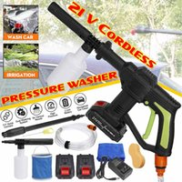 21V portátil sem fio Car Washer Máquina Limpador de alta pressão ferramentas elétricas Water Gun Auto Jardim Limpeza do Lar com a bateria