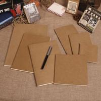 الجملة- البقر ورقة دفتر فارغة المفكرة كتاب خمر لينة الدفتر اليومية مذكرات كرافت غطاء مجلة دفتر ملاحظات