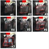 حقيبة السيارة مقعد المنظم متعددة جيب شماعات شبكة أكياس مطوية حقيبة التخزين شماعات الخلفية تنظيم مربع غطاء مقعد حقيبة حقيبة محفظة حامل E122804