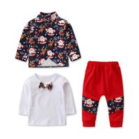 INS 2020 Christmas baby boys suits cartoon Infant Outfits lo...