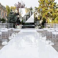 백색 테마 웨딩 장식 센터 피스 미러 카펫 통로 파티 무대 용품 용품 슈팅 소품 장식품