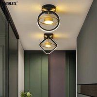 Neue moderne LED-Kronleuchter-Lichter für lebende Untersuchungsraum Schlafzimmer Gangeisen Aluminiumglanz Home Lampen Leuchte Innenbeleuchtung