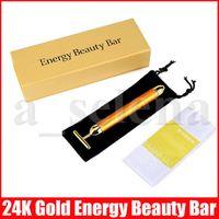 Красоты Бар Energy Bar Beauty 24K Gold Pulse Укрепляющий Массажер для лица Массажер роликовый лица Массаж лица Массаж тела релаксации с коробками