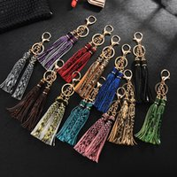 New Serpentine leather PU leather key chain Python double tassel keychain exquisite Decorated leopard print pendant keyring gift