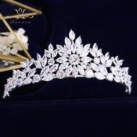 Bavoen Top Qualität Bräute Kronen Tiaras Zirkon Kristall Hochzeit Haarbänder Zubehör Abend Haarschmuck Hochzeit Geschenke