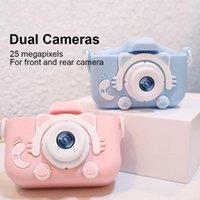Цифровые камеры портативный детский камеры 2.0 дюймов IPS экран игрушка фотообрабатывает зарядное видео PO для детей1