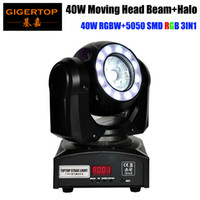 Freeshipping 40W LED Moving Head fascio di luce RGBW 4IN1 Tyanshine con 5050 SMD RGB Anello Cintura 16/21 CH 8 gradi Beam Angle CE ROHS