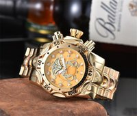 العلامة التجارية الفاخرة invicta الأزياء عارضة الرجال الكوارتز ووتش التقويم للماء متعدد الوظائف الفولاذ المقاوم للصدأ الساعات reloj دي hombre