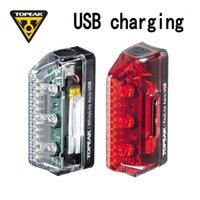 자전거 조명 토픽 USB 충전 능률적 인 안전한 야간 승마 산악 도로 앞면과 뒷면 미등의 극 램프 TMS073 TMS0741