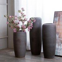 花瓶jingdezhen磁器の床大マットカラー釉薬花瓶モダンな牧歌的なスタイルのセラミック工芸品