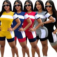 Kadın Kısa Eşofman Kollu 2 Parça Set Eşofman Moda Rahat Dikiş Kıyafetler Bayanlar Spor Yaz Giysileri S-3XL