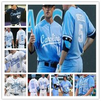 UNC North Carolina Tar Heels Baseball Jerseys 2019 CWS 1 Danny Serretti 3 Dylan Harris 4 Brandon Martorano 5 Ashton McGee Dylan Enwiller