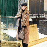 진짜 밍크 코트 2020 여성을위한 긴 겨울 자켓 천연 모피 코트와 자켓 따뜻한 Manteau Femme Hiver 222 KJ47701