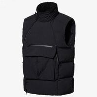 Новый Просто Mens вниз жилет моды жилет Зимняя куртка Пальто с Letters высокого качества Открытый Streetwear Одежда азиатский размер L-3XL