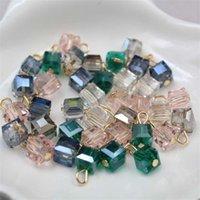 Manuel Kolye Kolye Cam Doğal Şifa Kristalleri Küçük Kare DIY Takılar Yapımı Için DIY Charms Kadın Kolye 0 25BY K2B
