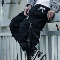 MICHALKOVA PARATROOPER JAPANES HOMMES JOGGERS NOGGERS MENS HIP HOP POCKETS ANKEL CARGO PASSANTS MEN STREETWEAR PANTANTS Casual1
