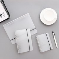 Notepads Mat PVC Şeffaf Binder Gevşek Kayış İç Çekirdek A6 A5 A7 Spiral Dizüstü Kapak Dolgu Kağıt Planlayıcısı Okul Ofis Malzemeleri