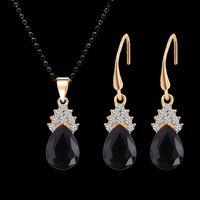 Di cristallo del diamante di goccia dell'acqua, collana a catena in oro placcato per goccia di modo del regalo delle donne dei monili di nozze