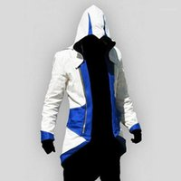 Assassins Creed 3 III Conner Kenway Hoodie Jacket Aassassins Creed Connor Cosplay 참신 스웨터 히드 재킷 Men1