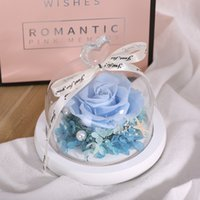 Valentine's Day Gifts Eternal Rose Preserved In Glass Dome Eternal Real Rose Mother's Day Wedding Gifts For Guests EEF4308