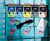 الجملة 800 في 1 المحمولة المحمولة ألعاب الفيديو وحدة التحكم الرجعية 8 بت صغير لعبة اللاعبين ألعاب 3 بوصة av ألعاب مع لون lcd