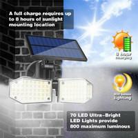 미국 주식 78LED 태양 벽 빛 PIR 모션 센서 야외 정원 보안 홍수 빛 에너지 절약 램프