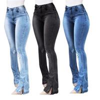 Jeans de mujer Mujer de alta cintura alta ropa de pierna ancha denim cremallera azul Streetwear Vintage 2021 Moda Harajuku Pantalones rectos XXXL