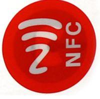1000pcs PET PETICA NFC Pegatinas Impermeable 13.56MHz ISO14443A ADHESIVIDUAL INTELIGENTE NFC 213 Etiquetas 25 mm RFID etiqueta pasiva para todos los teléfonos