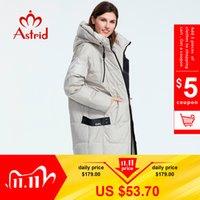 Astrid Kış Yeni Varış Aşağı Ceket Kadınlar Gevşek Giyim Giyim Kalitesi Bir Hood ile Moda Stil Kış Ceket AR-7038 201031