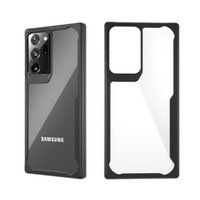 TPU antichoc TPU + PC Clear Clear Clef pour Samsung Note20 Ultra A70E A11 A41 Hard Couverture arrière transparente pour Galaxy S20 Plus S10 S9
