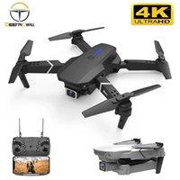 الطائرات بدون طيار E525 بدون طيار 4K HD واسعة الزاوية المزدوجة الكاميرا 1080 وعاء واي فاي ارتفاع المواقع المرتفع الحفاظ rc dron تابع لي كوادكوبتر اللعب 1