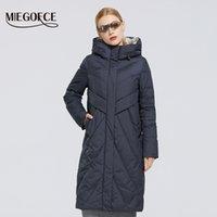 MIEGOFCE Kış Yeni Uzun Pamuk Coat Yumuşak Kumaş Ceket Avrupa Basit Parkas Kış Parka Kadın Ceket ve Pamuk Coat 200928