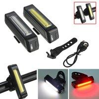 Велосипед Велоспорт LED USB аккумуляторная Спереди Сзади Tail Предупреждение свет лампы Аксессуары для велосипеда