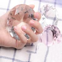 Nail Art Display Manicure Show Prop Transparent Glass Mano Model Ornament Pink Diamond Salone fai da te Vendita