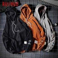 RUIHUO 2020 Autumn Solid Harajuku Hoodie Men Clothing Men's Hoodies Hip Hop Male Sweatshirt Japanese Streetwear M-5XL