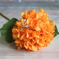 Suministros de fiestas Cabeza de flores de hortensia artificial 47 cm Seda falsa Solo hortensias reales Toque HORRANGAS 8 COLORES DE CENTEROS DE BODA CASA FLORES 154 G2