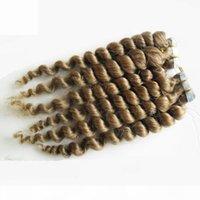 Brasilianische lose Welle Reines Haar Haut Schussband Haarverlängerungen 100g (40 stücke) Band in menschlichen Haarverlängerungen