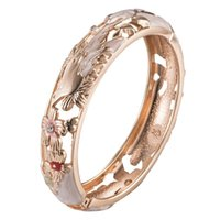 Mother's Day Gift High Quality Hollow Bangle Trendy Accessories Women's Jewelry Fashion Stylish Bracelets 88A31