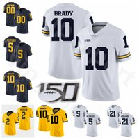 Michigan Wolverines Big Ten Futbol NCAA Kolej 5 Jabrill Peppers Jersey 10 Tom Brady 2 Charles Woodson 21 Desmond Howard LaMarr Woodley