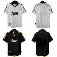 Top 98 99 00 01 Real Madrid Retro Jerseys 1998 1999 Soccer Jersey Vintage Classic 2000 2001 Raul Redondo Mijatovic Camisetas Camicia